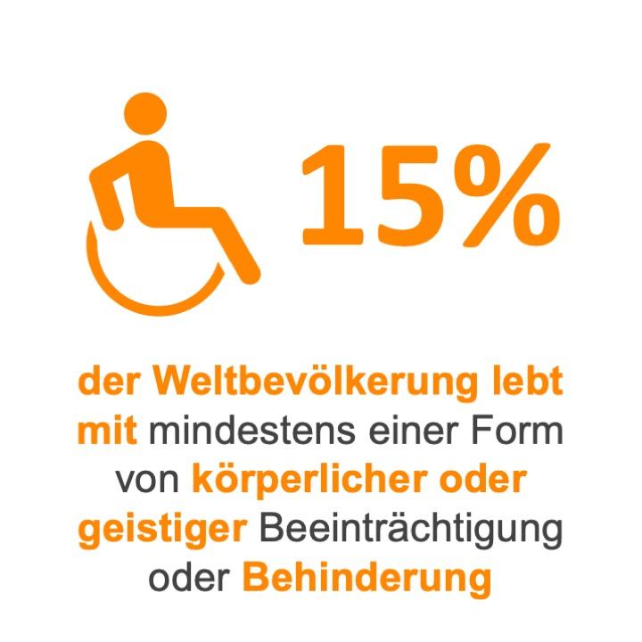 Anteil an Behinderungen weltweit