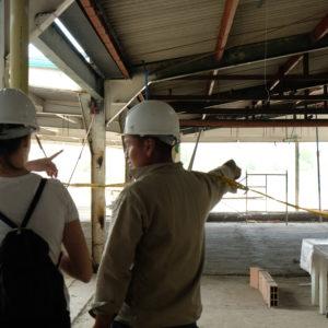Besuch auf der Baustelle (März 2020)